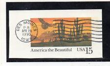Estados Unidos Naturaleza Flora y fauna valor de entero postal año 1990 (DC-442)