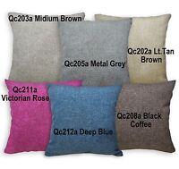 Qc Brown Grey Tan Brown Deep Blue Cotton Blend Pillow/Cushion Cover Custom Size