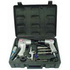 "1/2"" Air Impact Gun, Air Chisel & Accessories Set in Storage Case"