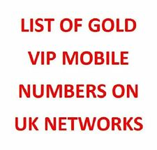 Gold VIP Easy To Remember Mobile Phone Numbers on ALL UK Networks New x1 Simcard