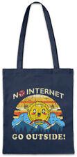 No Internet Go Outside Shopper Shopping Bag Wlan Wifi Real Life Camping Fun