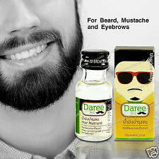 FACIAL HAIR GROWTH NUTRIENT SERUM OIL FAST GROW MUSTACHE BEARD SIDEBURNS EYEBROW