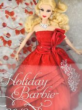 2012 Holiday Barbie Doll Mattel Barbie Collector Edition W3465 Red Dress Gown