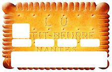 BISCUIT PETIT BEURRE CARTE BANCAIRE CREDIT CARD CB SKIN AUTOCOLLANT CC107