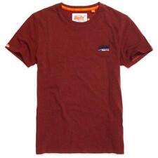 Camisetas de hombre rojos Superdry 100% algodón