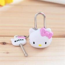 1x Pink Anime Cartoon Hello kitty Lock Lovely Cat Multifunctional Mini Lock Key