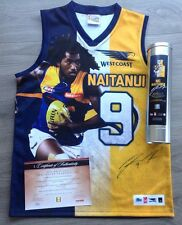 West Coast Eagles Limited Edition Nic Naitanui Signed Jumper With Collectors Tin