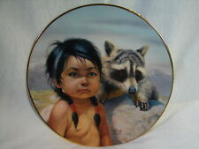 Vtg Pride of America's Indians Collector Plate 2nd in Series Dark-Eyed Friends