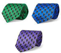Ralph Lauren Mens Narrow Italy Polo Bear Martini Blue Green Purple Knit Neck Tie