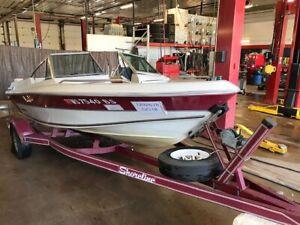 17' Ebko Cimmaron   Mercruiser In/Outboard  w/ Shoreline Trailer  T1292678