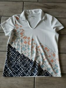 Izod Golf Women's Collared Polo Shirt Size Large