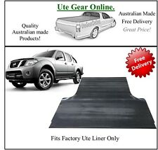 Nissan Navara D40 with Factory Ute Tub Liner 2005 to 2014 - Rubber Ute Mat
