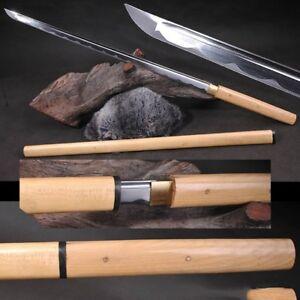 Japanese Hanbo Sword Tang Sword Carbon Steel sharp blade Wood Sheath #3776