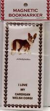 "Cardigan Welsh Corgi Dog Magnetic Bookmarker,""I Love My Cardigan Welsh Corgi"""