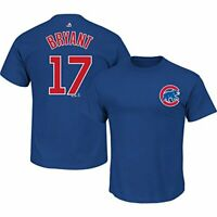 Chicago Cubs Kris Bryant T-Shirt #17 MLB Boys Youth Blue Cotton Majestic