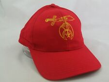 Shriners Emblem Hat Red Snapback Baseball Cap