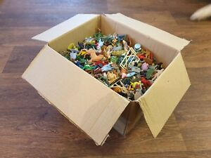 Vintage 1960's Plastic Toy Figures Large Mixed Job Lot Bundle