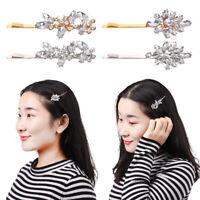 Shiny Rhinestones Hairpins Crystal Hairgrip Hair Clips Metal Barrette