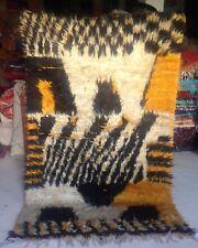 UNUSUAL shaggy Moroccan Tazenakht Tribal rug  242 x 152cm  7ft11 x 5ft