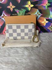 Louis Vuitton Key Pouch Damier Azur Canvas Cles Coin Purse Card Wallet