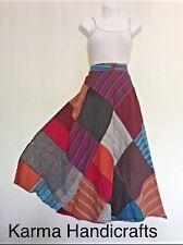 Patchwork Cotton Wrap Around Skirt Dress Hippie Hobo Gypsy Handmade Nepal XS-XL