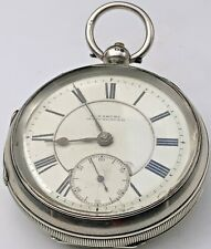 ANTIQUE SOLID SILVER KEY WOUND POCKET WATCH CHESTER 1898 GWO