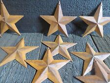 Lot of 50 Rusty 3D Barn Stars 3.5 inch 3 1/2 in Rusted Primitive Country Rustic