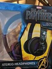 Marvel Avengers Black Panther Headphones Foldable High Quality Sound Superheroes