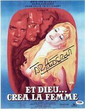 Brigitte Bardot Signed Et Dieu Crea La Femme Autographed 11X14 Photo PSA #T23473