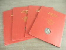 GIBRALTAR, 4 Sets of the 1991 Stamps(MNH) & a medal, mounted in a specialty fold