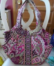 Vera Bradley side by side tote in  retired Very Berry Paisley pattern