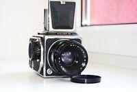 RARE SALUT-C USSR MEDIUM Format 6x6 HASSELBLAD COPY FILM camera w/s Lens VEGA-12