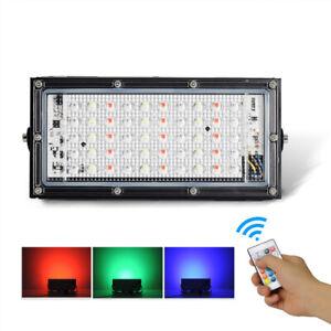 50W LED RGB Flutlicht Fluter Strahler Außen Scheinwerfer weiße Outdoor UltraDünn