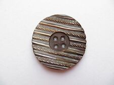 Antique Art Deco Big Carved Purple Mother of Pearl Coat Collectible Button-31mm