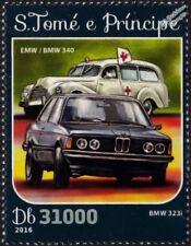 BMW 323i 3-Series & BMW/EMW 340 Ambulance Car Stamp (2016 St Thomas & Prince)