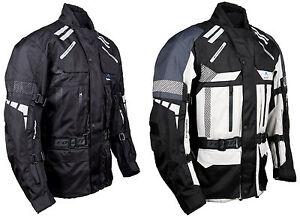 Roleff Racewear 774/775 -  lange Textil Motorradjacke, gut belüftete Tourenjacke