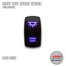 BLUE Laser Etched LED Rocker Switch 5 PIN Dual Light 20A 12V ON OFF DOME LIGHT