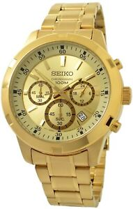 Seiko Men's Neo Sports SKS610 Gold-Tone Stainless Steel Watch