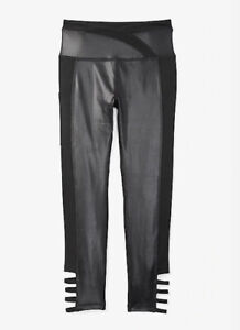New! Justice Girls Crossover Waist Strappy Leggings Black Size 6/8/7 MSRP:$29.95