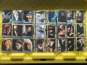 X-Men The Movie 2000 Topps Marvel 100% Complete Set 1-72 Trading Cards