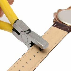 New Universal Hand Leather Strap Watch Band Belt Tool Hole Punch Pliers Tool