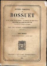 Oeuvres completes de Bossuet Louis Guerin 1870  12 tomes brochés