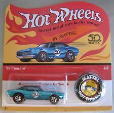 Hot Wheels 2018 50th Anniversary 1967 CAMARO blue Redline with button