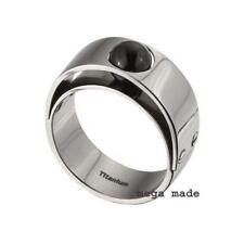 Black Onyx Wedding Band Engagement Titanium Ring Men Fashion Jewerly 7mm Sz11