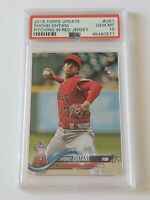2018 Topps Update Pitching Red Jersey Shohei Ohtani RC #US1 PSA 10 Rookie Card
