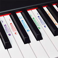 Piano Stickers for All White Keys (49/61/76 /88 Key Keyboards)