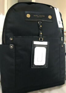 NWT NEW Marc Jacobs Large Black Preppy Nylon Backpack M0012907