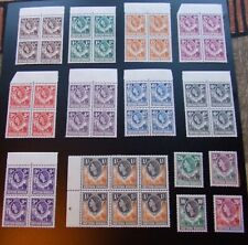 NORTHERN RHODESIA - QE II - FULL POSTAGE STAMP SET + BLOCKS - MNH - SG 61 to 74