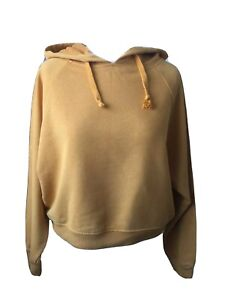 NEW - NEW LOOK Classy Soft Touch Long Sleeved Cropped Hooded Jumper Top Size 8