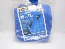 Jobsmart 10' x 12' Blue Poly Tarp Light Duty Uv Resistant New
